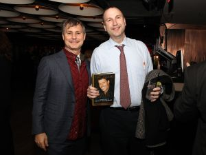 Ken Kurson (R) and Jason Binn, founder of DuJour Media, at a DuJour Magazine's event in 2014 in New York City.