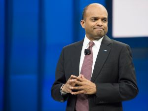 Raj Nair, then chief technology officer, the North American International Auto Show in Detroit, Michigan, January 11, 2016.