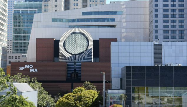 Buildings in San Francisco, including the San Francisco Museum of Modern Art.