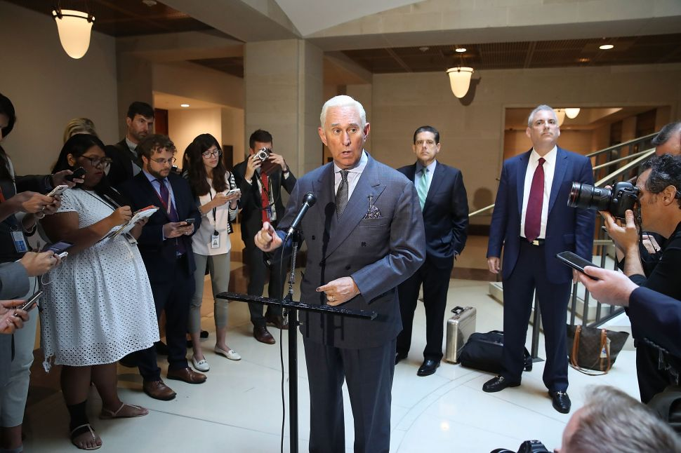 Roger Stone Suggests Unlawful Surveillance Over Leak of Private Wikileaks Messages