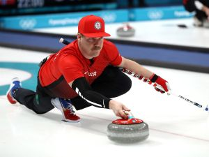 U.S. curling athlete Matt Hamilton, who is most often mentioned for his mustache.