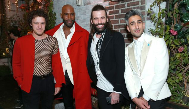 (L-R) Antonio Marziale, Karamo Brown, Jonathan Van Ness, and Tan France attend Netflix's Queer Eye premiere screening and after party on February 7, 2018 in West Hollywood, California.