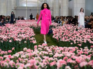 Click through to see the best fuchsia moments from New York Fashion Week.
