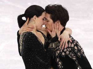 The ice dancers had to tone down their original routine for the 2018 Winter Olympics.