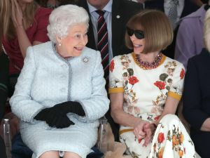 Queen Elizabeth II and Anna Wintour.