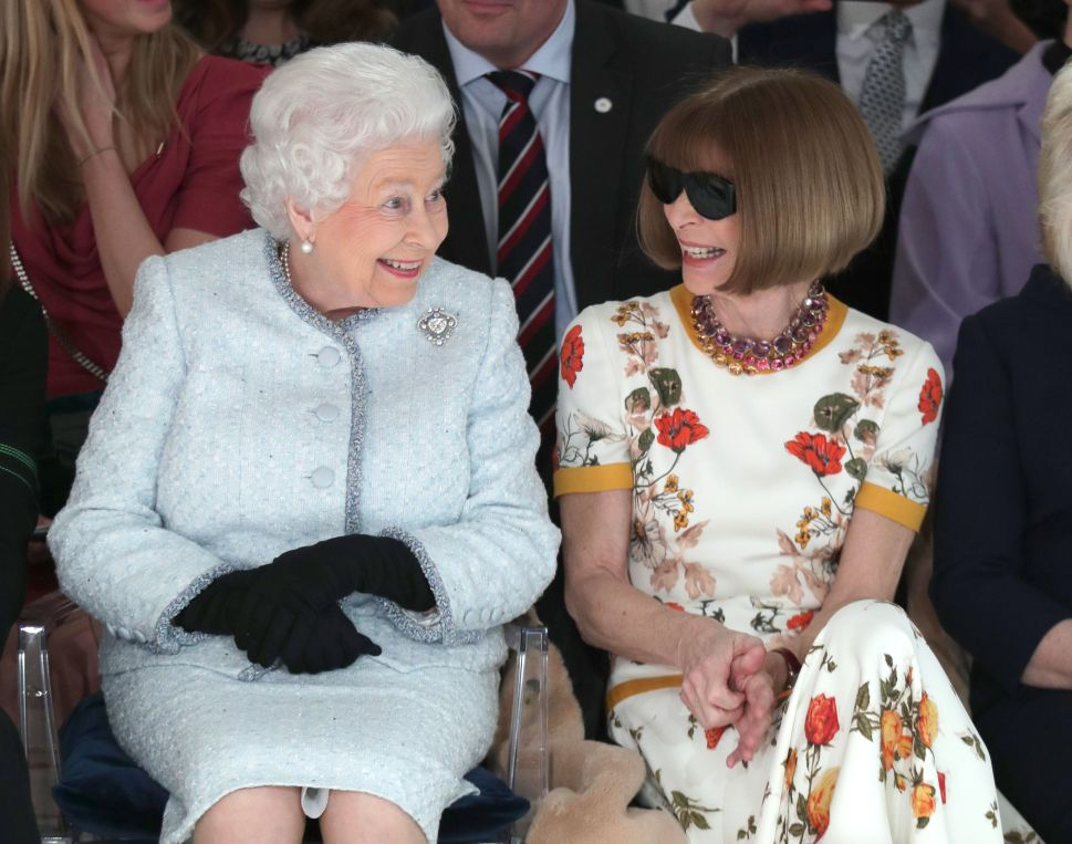 Queen Elizabeth Made a Surprise Appearance at London Fashion Week