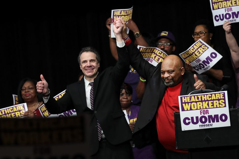 New York's Largest Union Backs Cuomo for Reelection