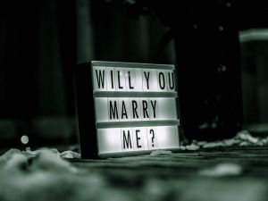 A ring can eventually be changed, but the right spouse is hard to find.
