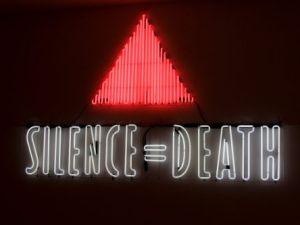 Gran Fury's Silence = Death, 1987.