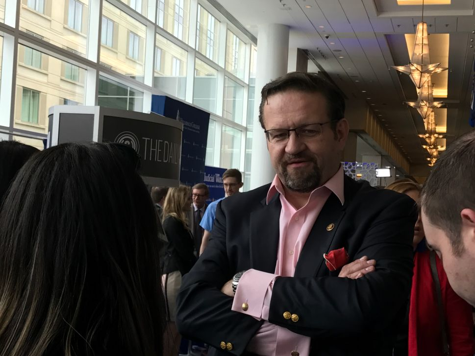 Sebastian Gorka Continues Threatening Reporters With Violence at CPAC 2018