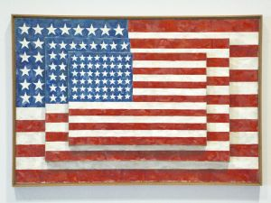 Jasper John, Three Flags, 1958.