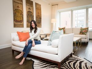 The Bevy co-founder Nikki Lewis in her New York apartment.