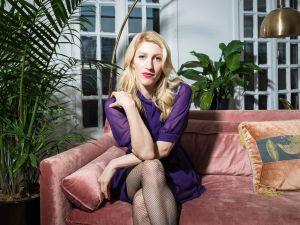 Karley Sciortino in her Manhattan apartment.