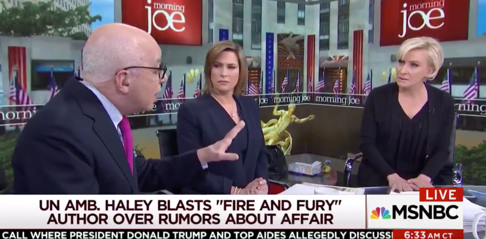 Michael Wolff Was Thrown Off MSNBC's 'Morning Joe' for Nikki Haley Affair Rumors