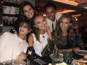 Romee Strijd, Jasmine Tookes, Sara Sampaio, Josephine Skriver and Taylor Hill at Legasea.