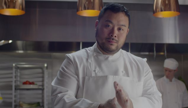 "David Chang gets serious in ""Ugly Delicious."""
