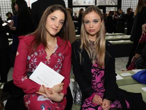 Amelia Windsor with Fiat heiress Anna de Pahlen attend the Valentino show as part of the Paris Fashion Week Womenswear Fall/Winter 2018/2019 on March 4, 2018 in Paris, France. (Photo by Vittorio Zunino Celotto/Getty Images)