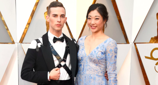 Adam Rippon and Mirai Nagasu, the real ice skaters of the evening.