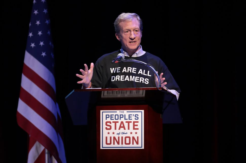 Billionaire Tom Steyer and Koch Network Break With Political Parties Over Immigration