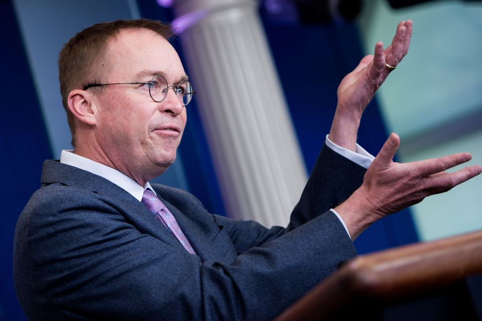 Mick Mulvaney Gets Downgraded From Trump Guru to Liability Amid Lobbyist Fallout