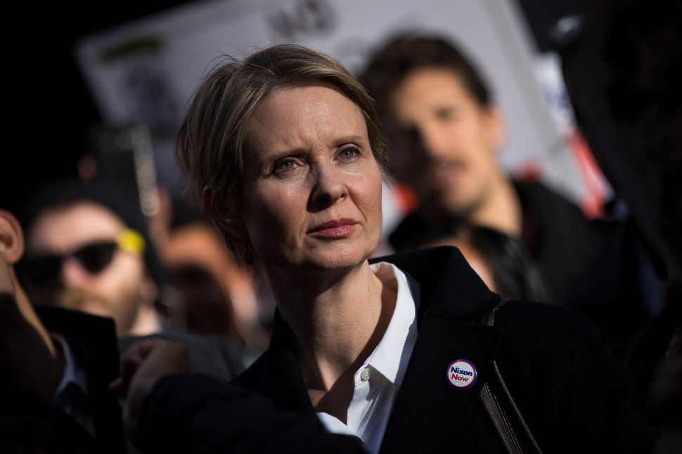 Cynthia Nixon Is Getting Hammered for Trying to Right the Drug War's Wrongs