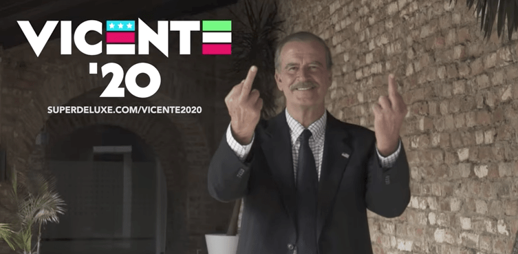 Former Mexican President Vicente Fox Spreads Global Capitalism With Middle Fingers