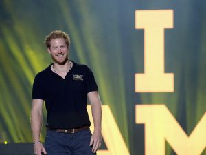 LAKE BUENA VISTA, FL - MAY 12: Prince Harry closing remarks during the Invictus Games Orlando 2016 - Closing Ceremony at ESPN Wide World of Sports Complex on May 12, 2016 in Lake Buena Vista, Florida.