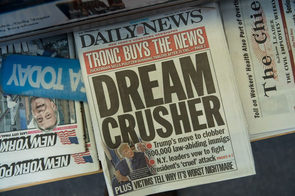 Under Pressure From Tronc, NY Daily News Moves Layout to Chicago