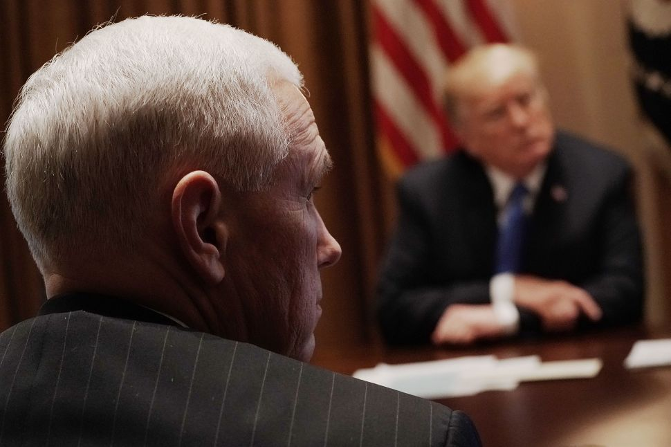 Mike Pence Fumbles Denuclearization Message Following Senate Lunch