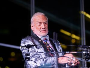 Buzz Aldrin's family says he's crazy. But would a crazy person wear a bow tie and a regular tie at the same time?