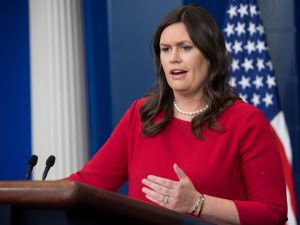 Sarah Huckabee Sanders normally looks like she needs to speak to your manager, but this time the Red Hen manager spoke to her.