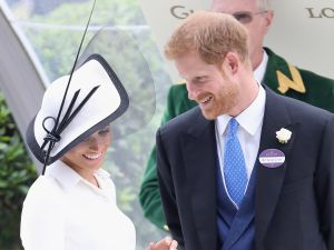 Meghan, Duchess of Sussex and Prince Harry, Duke of Sussex attend the prize ceremony of Royal Ascot Day 1 at Ascot Racecourse on June 19, 2018 in Ascot, United Kingdom. (Photo by Chris Jackson/Getty Images)