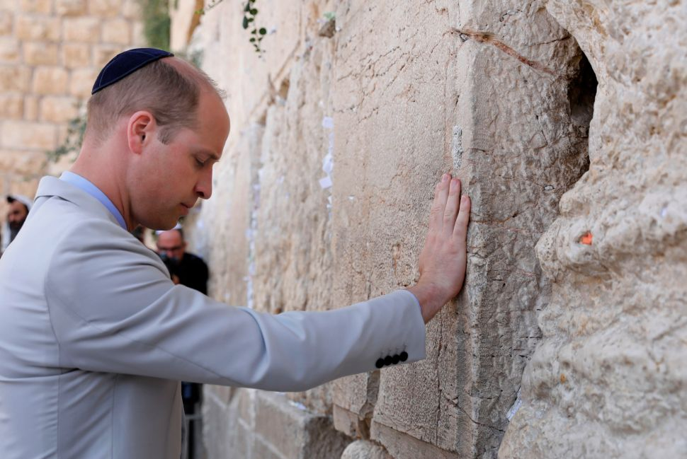 Prince William's Eventful Middle East Tour Ended at Western Wall
