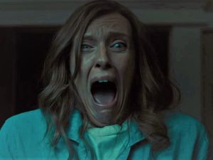Toni Collette in a scene from the 2018 film Hereditary.