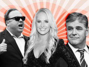 Alex Jones, Tomi Lahren, and Sean Hannity.