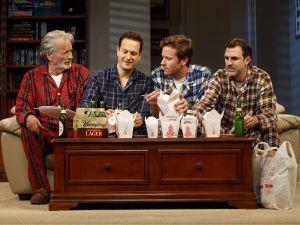 Stephen Payne, Josh Charles, Armie Hammer and Paul Schneider in Straight White Men.