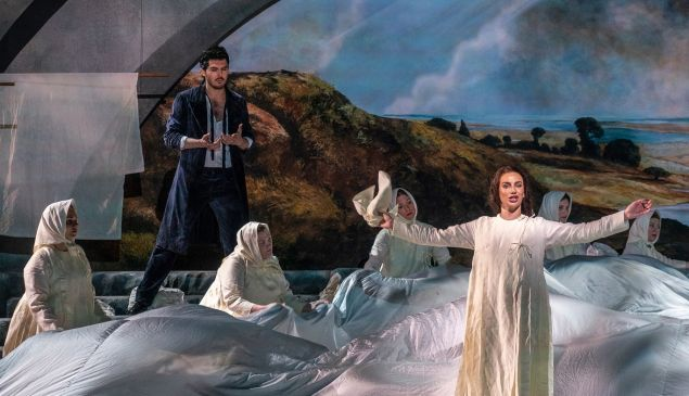 The Demon (Efim Zavalny) likes what he sees: Princess Tamara (Olga Tolkmit).