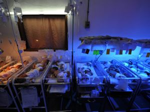 This photo taken on August 4, 2010 shows newly-born babies inside the nursery room of a government-run maternity hospital in Manila. The Philippine government will provide contraceptives to poor couples who request it despite strong opposition from the dominant Roman Catholic church, President Benigno Aquino said September 27, 2010. Speaking in a satellite television interview from the United States where he is on a seven-day visit, Aquino stressed that the number of children a couple had was a matter of personal choice. AFP PHOTO/TED ALJIBE (Photo credit should read TED ALJIBE/AFP/Getty Images)