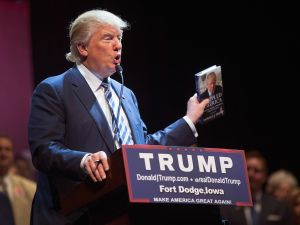 President Donald Trump promotes books that make him look good, but that doesn't sell copies.