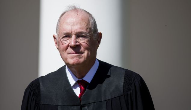U.S. Supreme Court Associate Justice Anthony Kennedy is seen during a ceremony in the Rose Garden at the White House April 10, 2017 in Washington, D.C.