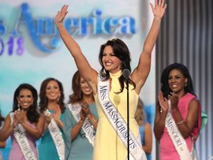 Miss Massachusetts 2017 Jillian Zucco enters the stage to participate in Miss America 2018.