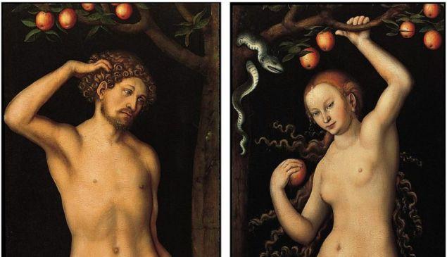 Adam and Eve, 1526, by Lucas Cranach the Elder.