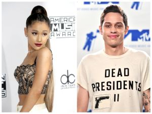 Ariana Grande and Pete Davidson.