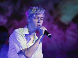 Troye Sivan performing in Los Angeles.