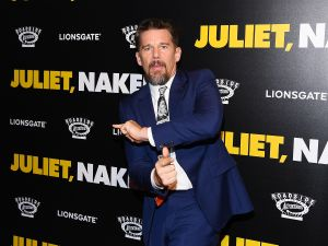 "Ethan Hawke at the ""Juliet, Naked"" premiere in New York Premiere."