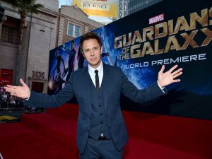 Director James Gunn at the world premiere of Guardians of the Galaxy.
