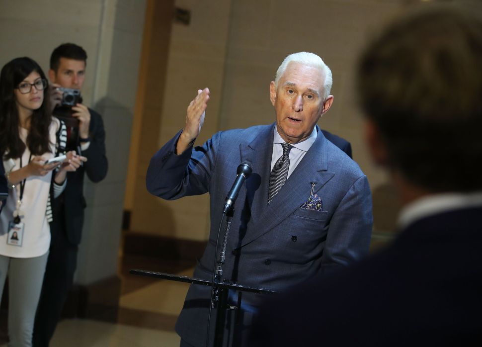 Roger Stone Posts Picture of Himself Wearing a Swastika on Instagram