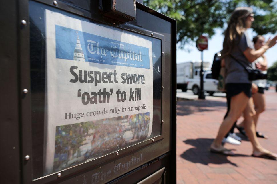 Buy This, Not That: Capital Gazette 'Damn Paper' Tee Beats Newseum 'Fake News' Merch