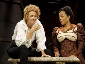 Janet McTeer and Brittany Bradford in Bernhardt/Hamlet.