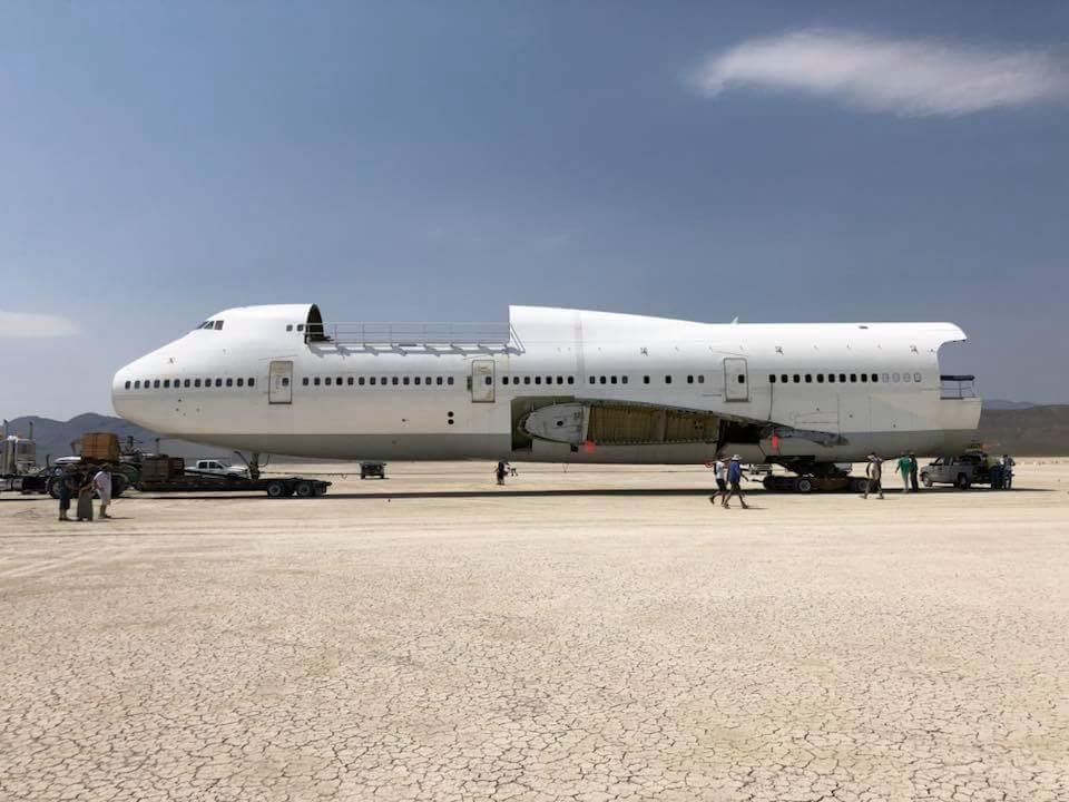 Burning Man Will Finally Haul Its Boeing 747 'Art Car' Off Nevada Public Land